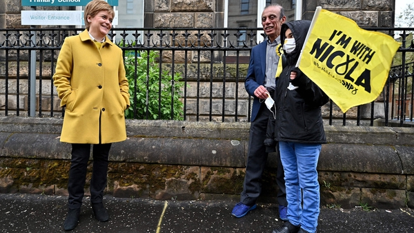 Scotland's First Minister and leader of the Scottish National Party Nicola Sturgeon is certain to be returned as First Minister