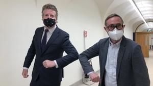 RTÉ Political Correspondent, Paul Cunningham, and Sinn Féin Housing spokesperson, Eoin Ó Broin TD