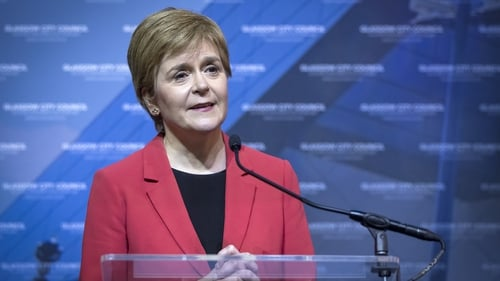First Minister and SNP party leader Nicola Sturgeon delivers her speech after retaining her seat for Glasgow Southside