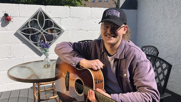 Playing and recording his own music has been a lifeline during lockdown for Commerce student James Colohan