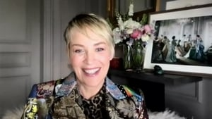 Sharon Stone appeared on Friday night's Late Late Show