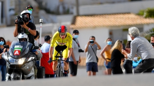 Ethan Hayter made a superb recovery from his crash on Saturday's time trial