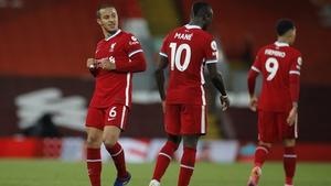 Thiago and Sadio Mane found the net for Liverpool
