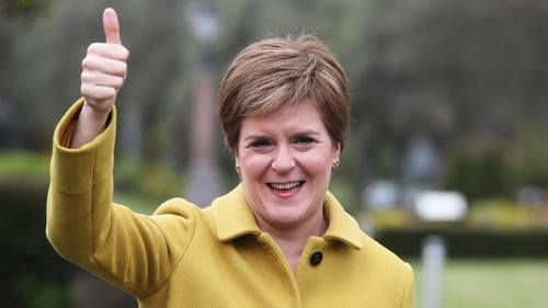 """Nicola Sturgeon said the result proved a second independence vote was the """"will of the country"""""""