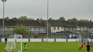 Noelle Murray convers a penalty for Shelbourne