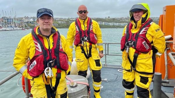 Coxwain Mark Gannon, his son Mark John and brother Dara were among the Courtmacsherry RNLI crew