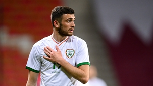 Troy Parrott during Ireland's most recent fixture against Qatar