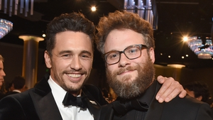 James Franco and Seth Rogen pictured at the Golden Globes in 2018
