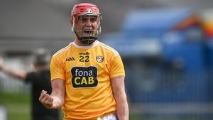 Eoin O'Neill celebrates Antrim's win