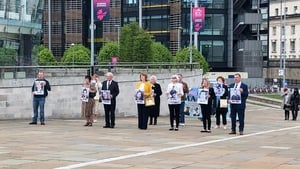 Relatives of those who died in Ballymurphy arriving at the ICC this morning