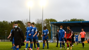 Waterford FC academy players leaving the field last weekend
