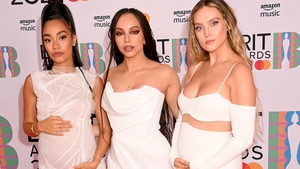 Little Mix arriving at the Brit Awards 2021