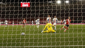 Danny Ings scores his second, and Southampton's third, on the night