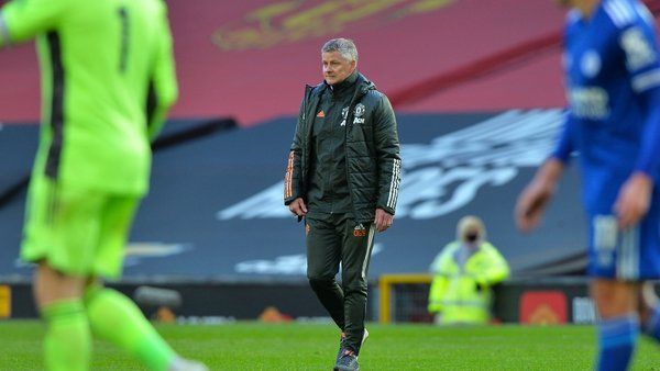 Ole Gunnar Solskjaer after Manchester United's 2-1 home defeat against Leicester City