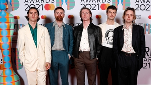 The Dublin band got the glad rags out for the glitzy awards show. Photo: Getty