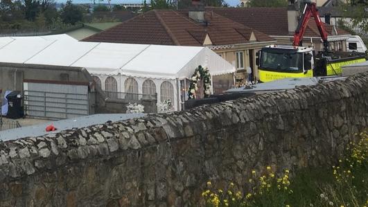 Wedding reception marquee taken down after court order