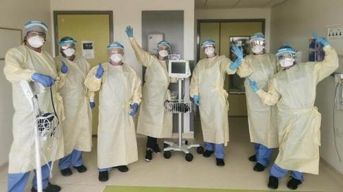 Nurses at the Mater Misericordiae University Hospital in Dublin