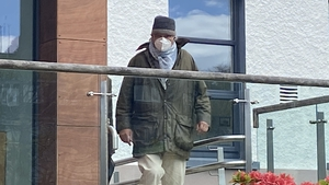 Ian Bailey outside the court today