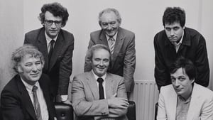 Seamus Deane (top, far left) with his Field Day Theatre Company Directors (top, from left) Brian Friel, Stephen Rea, (bottom, from left Seamus Heaney, David Hammond and Tom Paulin