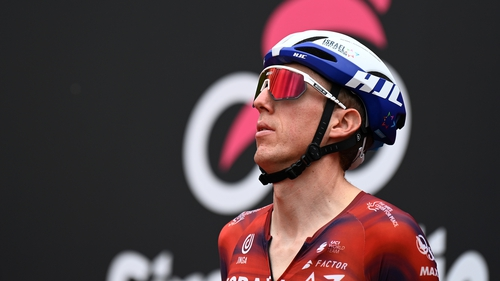 Dan Martin prior to the start of today's stage of the Giro