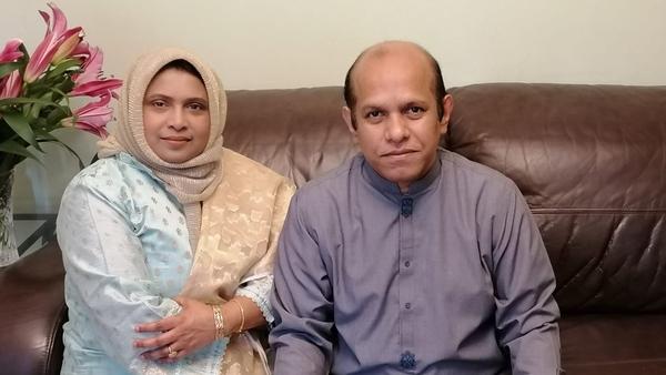 Dr Mushabbir Hossain Rubel and his wife Dr Rita Awal