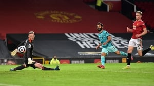 Mo Salah scores Liverpool's fourth goal of the game