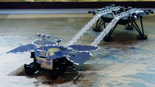 Zhurong rover pictured at a an event last year when the mission to mars was announced