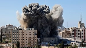 The complaint by Jawad Mehdi says that the attack on 15 May which flattened Jala Tower, housing the offices of US news agency Associated Press and Al Jazeera television, was a 'war crime'