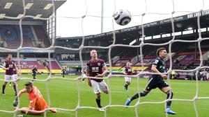Rodrigo nets Leeds' third goal against Burnley