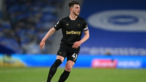 Declan Rice was back in the West Ham side for the trip to Brighton