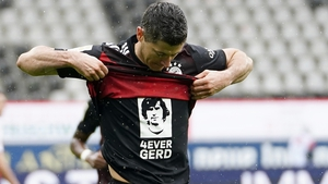 Robert Lewandowski pays tribute to Gerd Muller after scoring his 40th league goal of the season