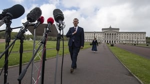 Edwin Poots said he has requested a meeting with British Prime Minister Boris Johnson over the contentious protocol
