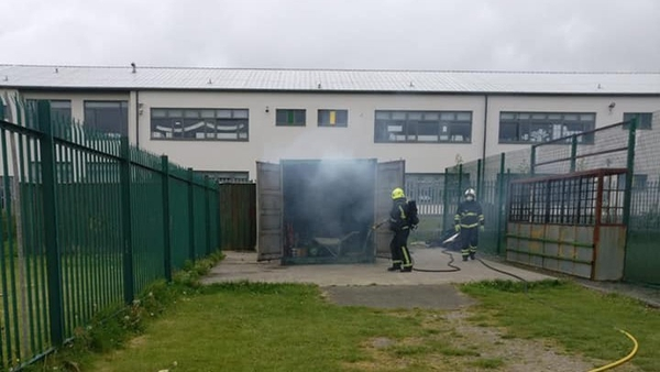 The fire service was called to the blaze at the Drogheda Boys and Girls FC grounds yesterday morning (Pic: Facebook)