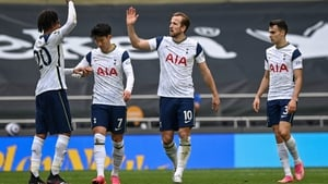 Harry Kane opened the scoring at the end of the first half