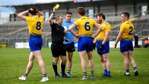 Niall Daly was booked for a late foot block