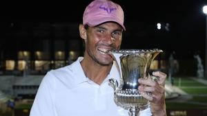 Rafael Nadal defeated Novak Djokovic in three sets