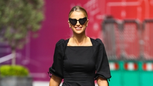 Vogue Williams gave her summery look a dramatic twist with a dazzling open-backed voluminous dress. Photo: Getty