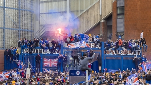 Rangers fans were celebrating their title victory, but others then engaged in acts of violence