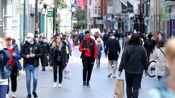 Shoppers in Dublin as non-essential retail opened across the country