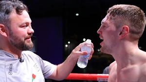 Andy Lee and Jason Quigley after his January 2020 victory against Fernando Marin