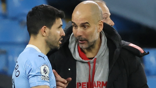 Pep Guardiola is hopeful Sergio Aguero will be fit for Sunday's Premier League finale against Everton
