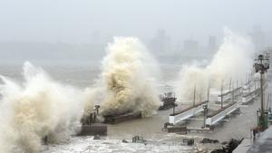 Waves during Cyclone Tauktae batter Mumbai's shoreline