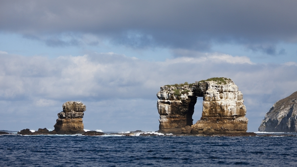 Darwin's Arch was a natural bridge in the sea off the Galapagos Islands