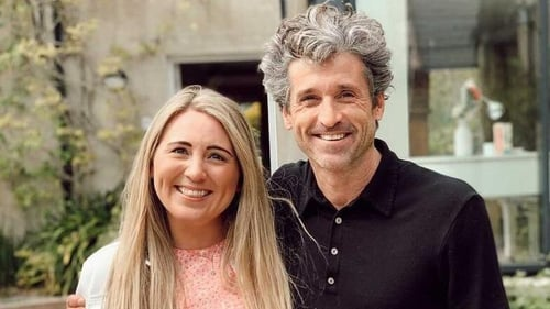 Hollywood star Patrick Dempsey with businesswoman Olivia Burns, image via Instagram