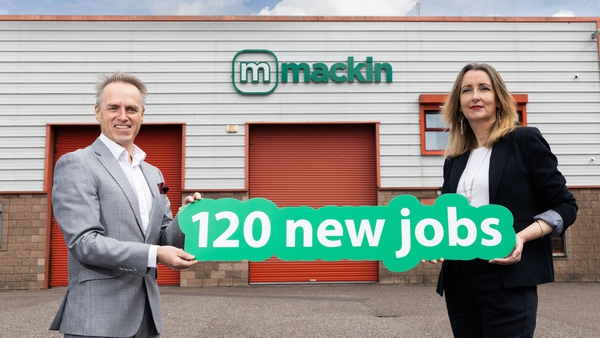 Andy Mackin, Mackin Group CEO and Fiona Donnelly, the company's COO