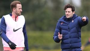 Ryan Mason (right) says Harry Kane will start against Aston Villa on Wednesday