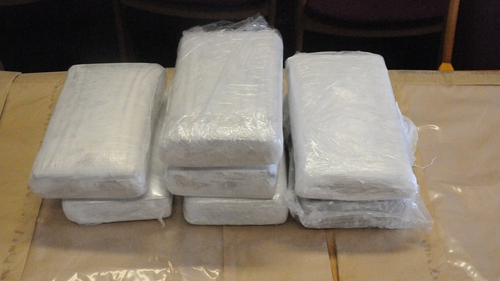 The drugs were found in a vehicle in the Naas area