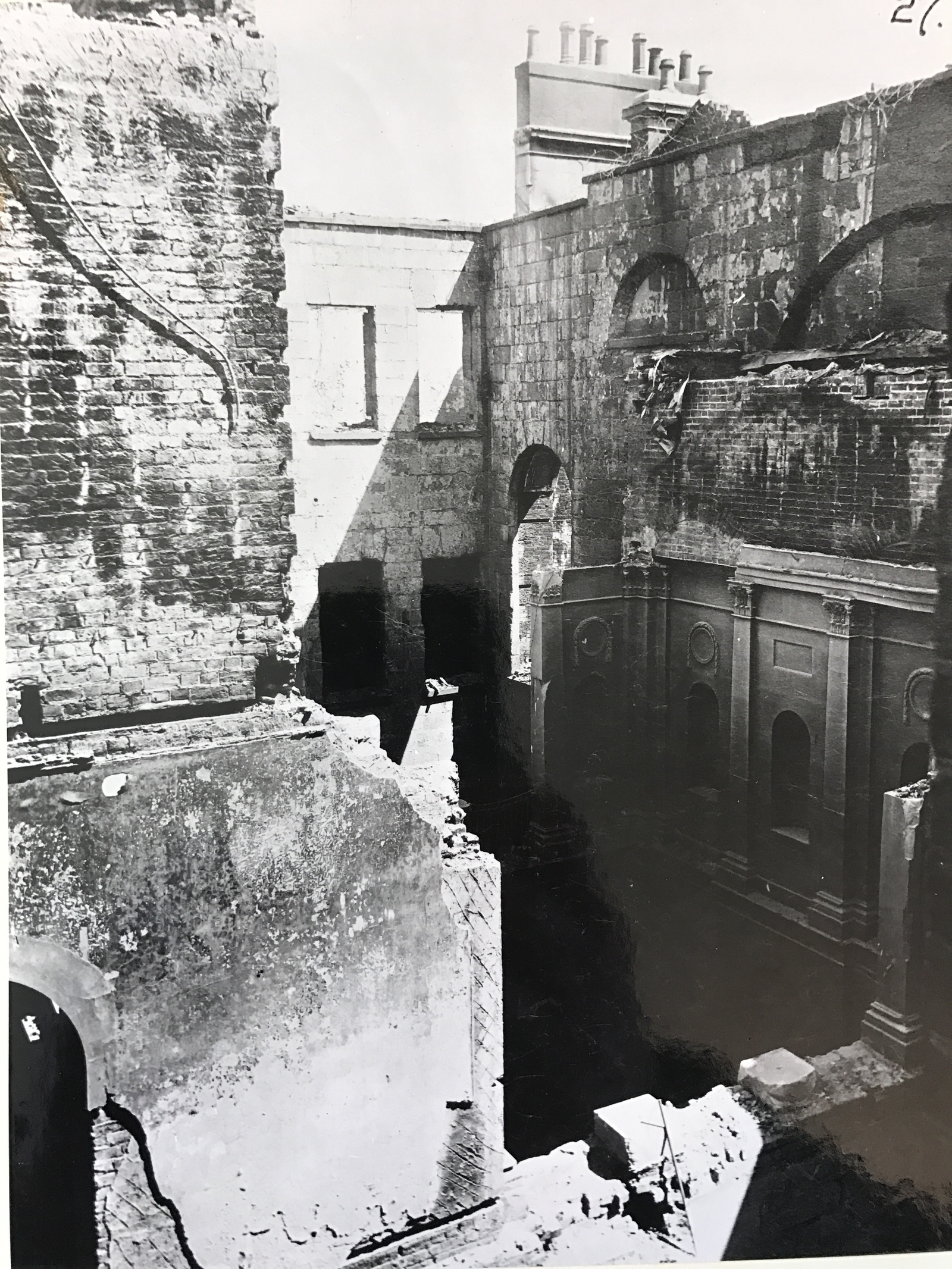 Image - Much of the stunning Georgian interior was lost forever. Credit: Department of Housing, Local Government and Heritage and OPW
