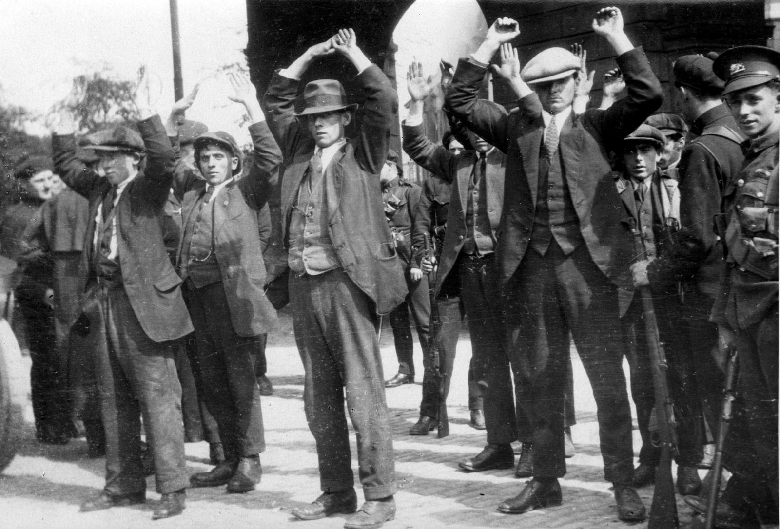 Image - IRA Volunteers captured after the burning. Credit: Spaarnestad Photo