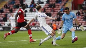 Patrick Bamford slots home Leeds' opener